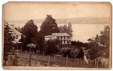 SUPER Oversized Cabinet Albumen Photo - Fosters Point Canandaigua Lake NY 1870s