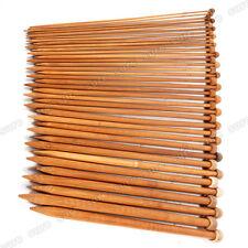 Juego de 36 Agujas de Bambú Aguja De Ganchillo Para Tejer