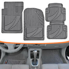 FlexTough Performance Floor Mats for Auto Car SUV Truck Modern Gray Rubber