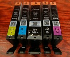Canon PGI 250 CLI 251 CMYK Ink Cartridges Set of 5 NEW Genuine Sealed OEM Setup