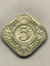 1929 Netherlands 5 Cents XF++ #13025