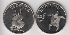 ILE DES PINS, NEW CALEDONIA 20 Francs 2014 turtle, fantasy coinage