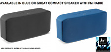 KitSound Miami 6W Tragbarer Bluetooth Lautsprecher/Radio-Blau oder Grau