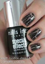NEW! NAILS INC 3D Special Effects Nail Polish in CAMDEN SQUARE TOPCOAT ~ Black