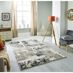 Sansa Rug Abstract Grey Beige Contemporary Rugs Modern Soft Touch