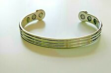 Healing arthritis pain relief bangle magnetic copper ladies silver