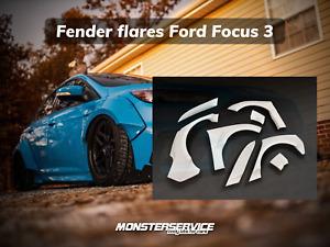 "Fender flares ""Monsterservice"" Ford Focus 2012+"