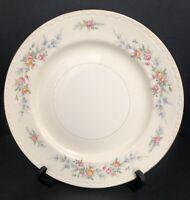 """Vintage 1950 Homer Laughlin Eggshell Georgian Dinner Plate 10"""" Floral Gold Rim"""