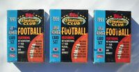 1993 Stadium Club High Number Football Card Set Lot (3 Sets, 50 Cards Each)
