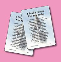 """""""I Said A Prayer For You Today""""  Poem - 2 Inspirational Verse Cards -  SKU# 867"""