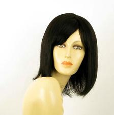 perruque femme 100% cheveux naturel noir ref SEVERINE 1b