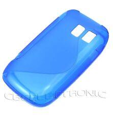 New Dark Blue Skidproof Gel skin case back cover for Nokia 302 Asha 302