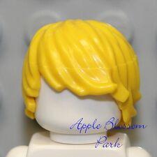 NEW Lego Boy Minifig Tousled Yellow BLONDE HAIR -Side Swept Minifigure Head Gear