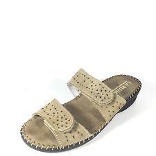 LaPlume Sky Women's Size 39 Beige Slide Leather Comfort Low Heel Sandals