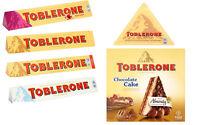 TOBLERONE MILK CHOCOLATE - WHITE - FRUIT & NUT - CHOCOLATE CAKE - XMAS GIFT