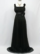 Cherlone Chiffon Black Ballgown Bridesmaid Wedding Formal Evening Dress 14-16