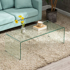 Thicken Tempered Glass Coffee Table Side Table Living Room Furniture Rectangle