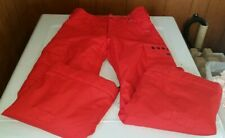 BURTON Exile Dry Ride Cargo Red Snowboard Ski Pants Youth Boys Size Large 14/16