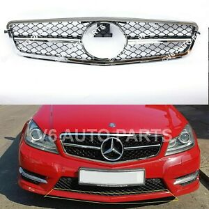 REF8 FRONT BUMPER FOR GRILLE 2007 - 2014 MERCEDES C-CLASS W204 SALOON (AMG LOOK)