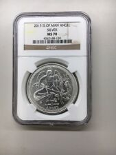 2015 Isle of Man .999 FIne Silver 1 oz Angel Coin Official NGC Graded MS70