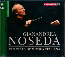 Gianandrea Noseda Ten years of Musica Italiana CD NEW 2-disc Alfredo Casella