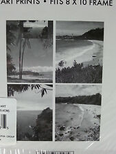 Set of 4 RARE Very Nice Island Beaches ART PRINTS Fits 8