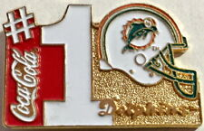 NFL Football MIAMI DOLPHINS 1994 Coca Cola #1 Helmet Logo VINTAGE Lapel PIN Card