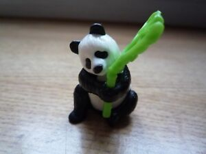 Cute Panda Figure Toy with Bamboo Kinder Egg FT006 Collectible Children Animals