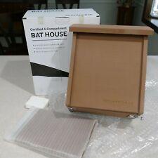 Whitehorse Premium Cedar Bat House ~ Certified 4-Compartment Bat Box ~ Nib