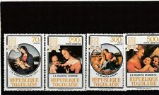 a117 - TOGO - SG1744-1747 MNH 1984 CHRISTMAS - PAINTINGS BY RAPHAEL