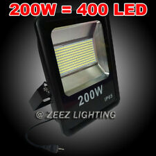 200W Cool White LED Flood Light Outdoor Security Garden Landscape Wall Spot Lamp