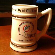 1973 Miami Dolphins Ceramic Porcelain Super Bowl Viii Champions Mug Undeafted