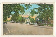 Main Street View YMCA Building STROUDSBURG PA Vintage Postcard