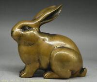 "6.8 ""vieux chinois feng shui du zodiaque animal lapin statue folk sculpture"