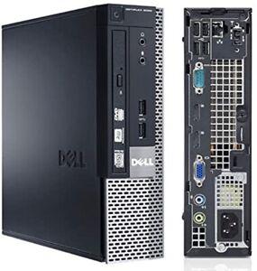 DELL MINI MICRO COMPUTER PC DESKTOP 8 GB DDR3 128 SSD WINDOWS 10 DA CASA WIFI