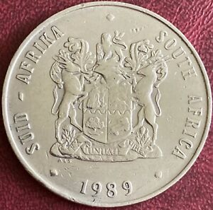 South Africa - 1 Rand Coin - 1989 (GY8)