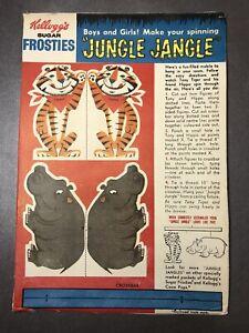 Vintage 1960's Kellogg's SUGAR FROSTIES Tony The Tiger And Hippo JUNGLE JANGLE