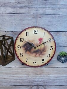 Round Rooster Clock