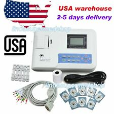 Digital ECG machine Portable 12-lead one-channel EKG electrocardiograph US Sell