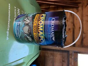 Tin of cromapol 5kg unused black tar previously listed at wrong weight