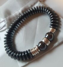 Hematite & Links Of London sterling silver bead rings Bracelet small- Medium