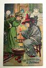 Halloween  Vintage Postcard,The Harmless Charms of Halloween, Stirring Potions