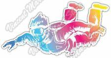 "Skydiving Parachuting Parachute Air Extreme Car Bumper Vinyl Sticker Decal 6""X3"""