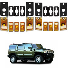 10x Top Roof Cab  Amber Marker Light Cover Lens for 2003-2009 Hummer H2 SUV SUT