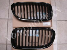 BMW F10 Genuine Front Black Kidney Grilles 528i 535i 550i Grille SET NEW 2011-up