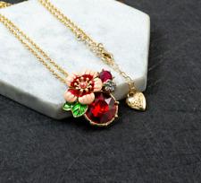 Betsey Johnson Fashion Woman Alloy Rhinestone Enamel Flower Necklaces Jewelry