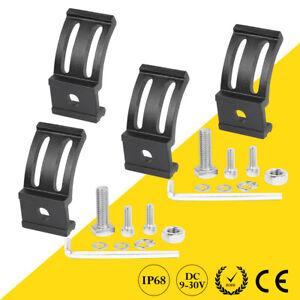 4X Mounting Bracket Bottom Rotating Slid Holder For LED Work Light Bar Pods AU