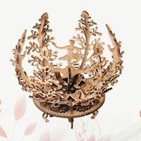 1pc DIY Puzzle 3D Ballet Girl Women Flower Wooden Assembly Toy Desktop Adornment