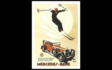 Classic Germany Skiing MERCEDES-BENZ C.1930s POSTER Reprint