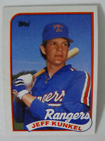 1989 Topps Jeff Kunkel Texas Rangers Wrong Back Error Baseball Card